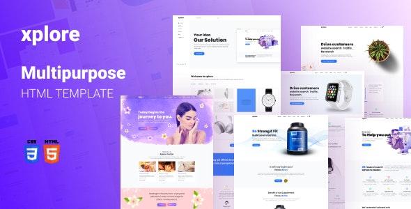 Xplore – Multipurpose Website Template