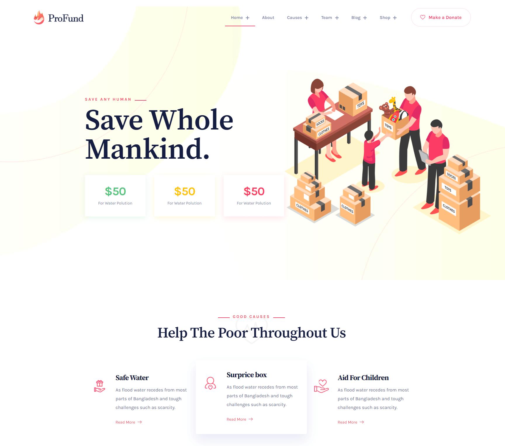 Profund – Charity WordPress Theme