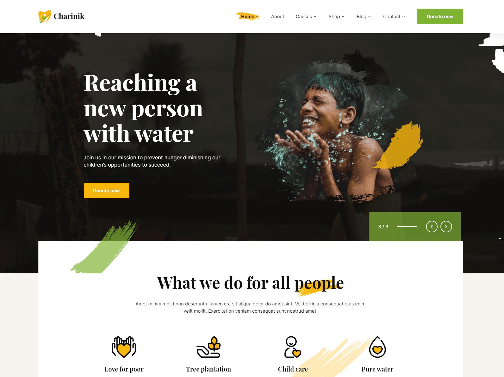 Charinik – Charity WordPress Theme